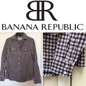 Soft Wash Shirt Plaid Flannel LS - Banana Republic